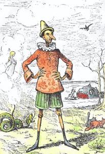Pinocchio by Enrico Mazzanti in Le avventure di Pinocchio (1883), colored by Daniel Donna