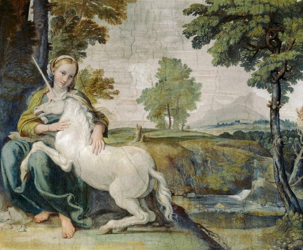 The Maiden and the Unicorn by Domenichino (1602)